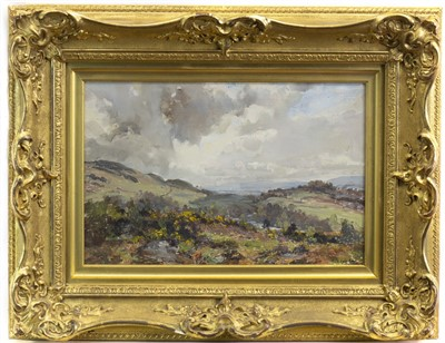 Lot 408-HIGHLAND LANDSCAPE, AN OIL BY ARCHIBALD KAY