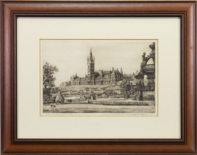 Lot 428-UNIVERSITY OF GLASGOW, AN ETCHING BY APPLEBY