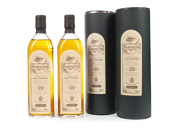 Lot 314-TWO BOTTLES OF BUSHMILLS 12 YEARS OLD