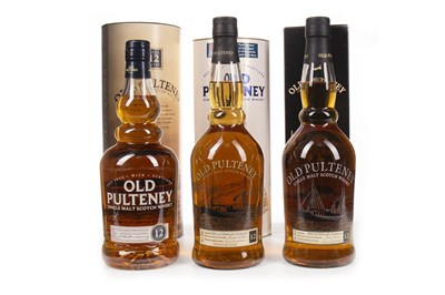 Lot 315-THREE BOTTLES OF OLD PULTENEY 12 YEARS OLD