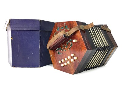 Lot 1435-AN EARLY 20TH CENTURY CONCERTINA