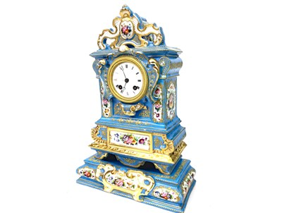 Lot 1427-A VICTORIAN FRENCH PORCELAIN MANTEL CLOCK
