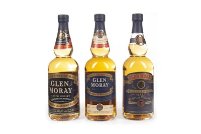 Lot 316-TWO BOTTLES OF GLEN MORAY 12 YEARS OLD AND ONE CHARDONNAY FINISH