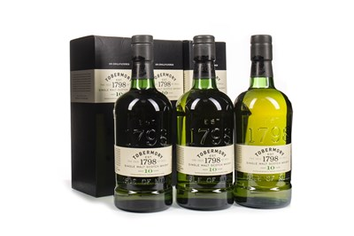 Lot 324-THREE BOTTLES OF TOBERMORY AGED 10 YEARS