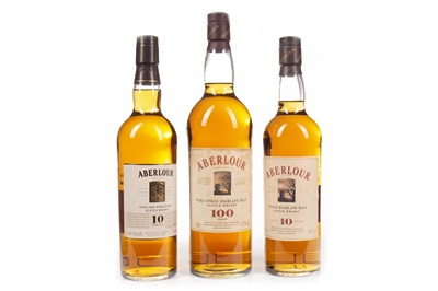 Lot 325-ONE LITRE OF ABERLOUR 100° PROOF AND TWO BOTTLES OF ABERLOUR AGED 10 YEARS