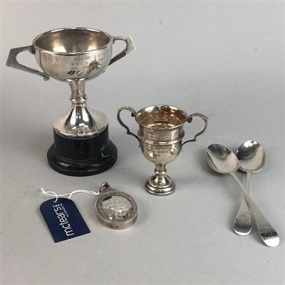 Lot 2-A LATE VICTORIAN SILVER MEDAL, SPOONS AND TROPHIES