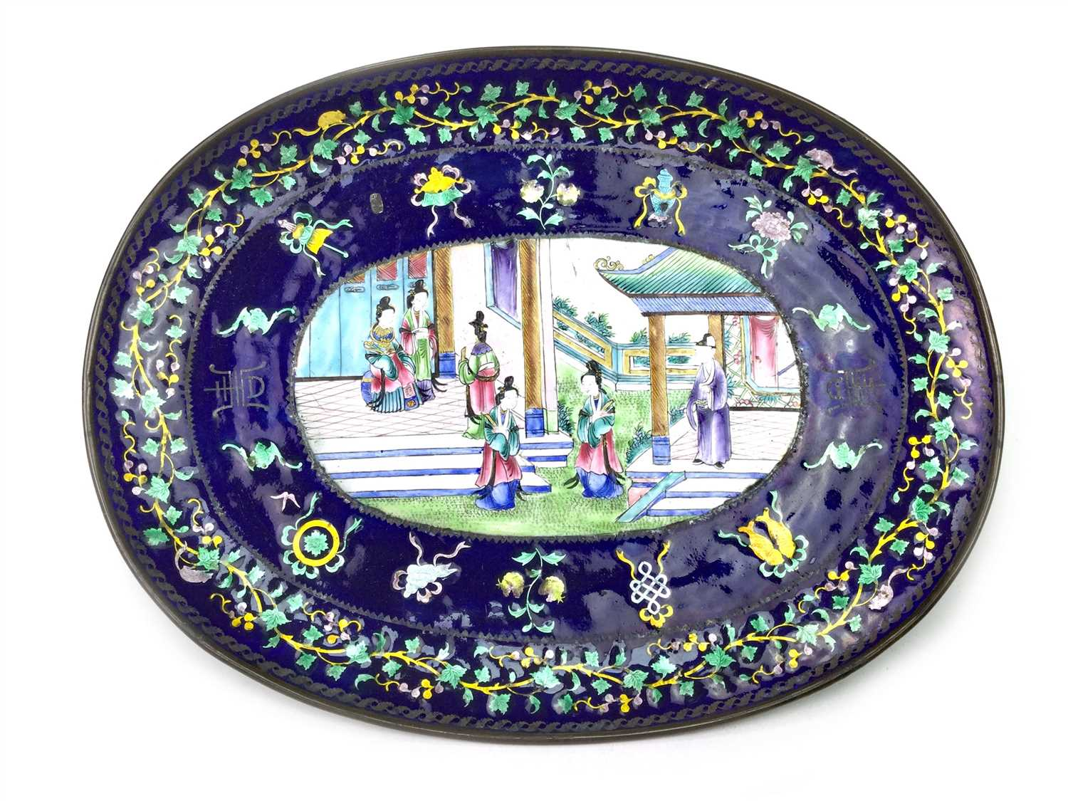 Lot 1009-A CHINESE ENAMELLED PLATE