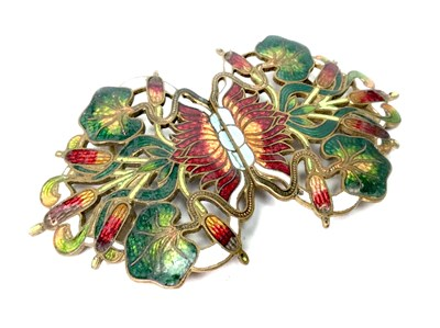 Lot 1007-A CHINESE CLOISONNE BELT BUCKLE