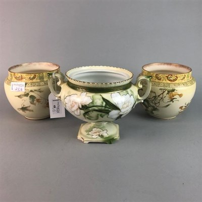 Lot 48-A LOT OF TWO DOULTON BURSLEM PLANTERS AND ANOTHER