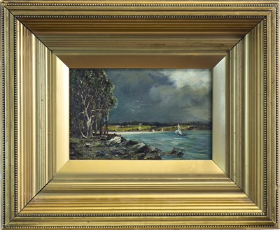 Lot 417-COASTAL SCENE, AN OIL ATTRIBUTED TO SAM BOUGH