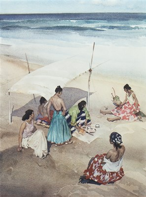 Lot 430-GITANAS AT LA GALERA, A COLOUR PRINT AFTER SIR WILLIAM RUSSELL FLINT