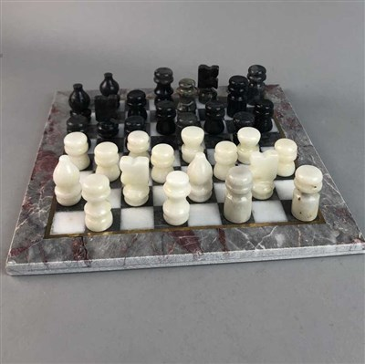 Lot 4-A MARBLE CHESS SET