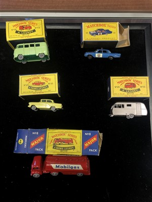 Lot 1542-A LOT OF BOXED MATCHBOX SERIES LESNEY VEHICLES