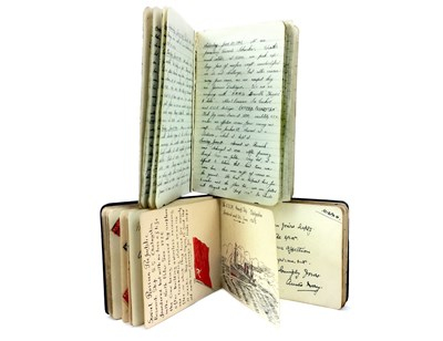 Lot 1543-WWII INTEREST - A NAVAL POCKET ALBUM AND JOURNAL