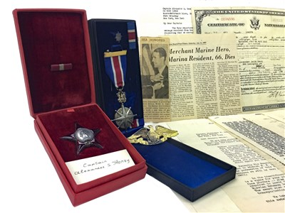 Lot 1544-A UNITED STATES MERCHANT MARINE DISTINGUISHED SERVICE MEDAL