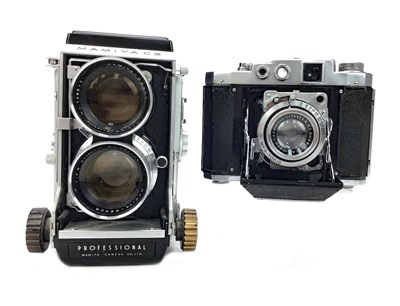 Lot 1455-A MAMIYA C3 TWIN LENS REFLEX CAMERA AND ANOTHER CAMERA