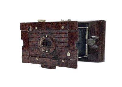 Lot 1457-A KODAK NO. 2 HAWKETTE BELLOWS ACTION FOLDING CAMERA