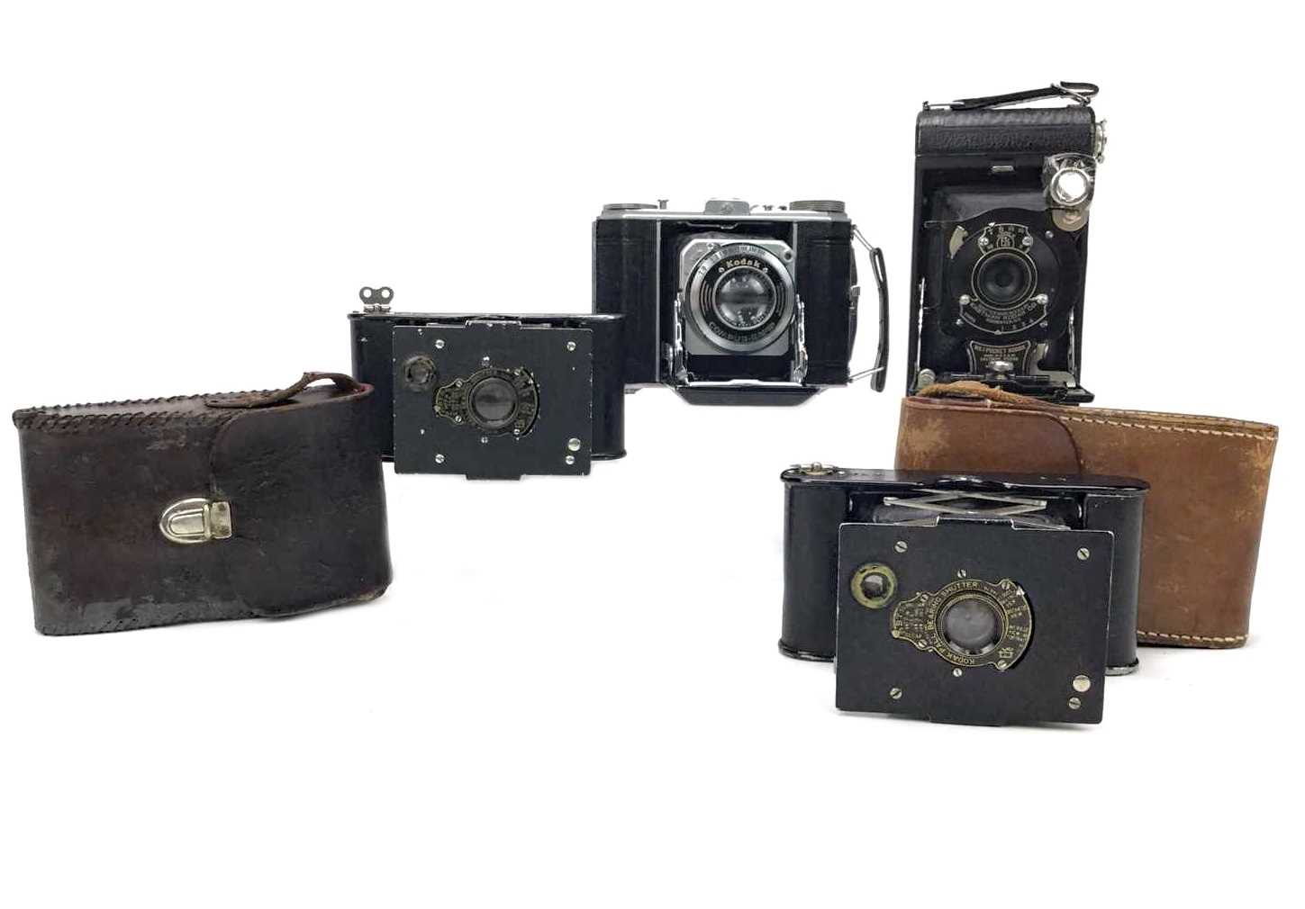 Lot 1460-A LOT OF TWO KODAK VEST POCKET CAMERAS AND TWO OTHER KODAK CAMERAS
