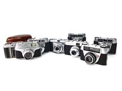 Lot 1467-A LOT OF TWO KODAK RETINETTE I B SLR CAMERAS AND OTHERS