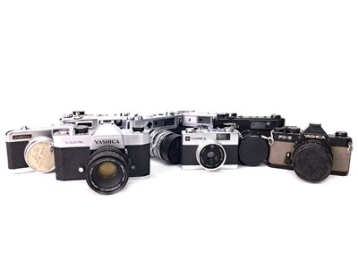 Lot 1470-A GROUP OF YASHICA SLR CAMERAS