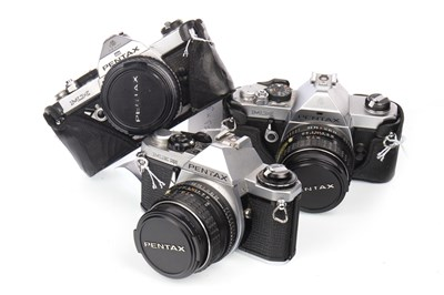 Lot 1473-A PENTAX MX SLR CAMERA AND OTHER CAMERAS