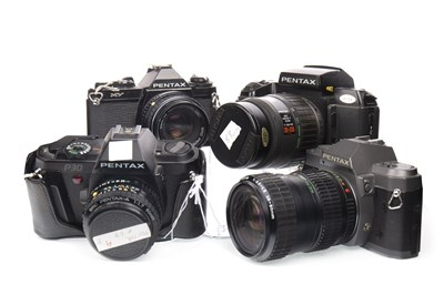 Lot 1475-A PENTAX SFX SLR CAMERA AND OTHER PENTAX CAMERAS