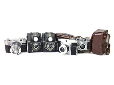 Lot 1476-A LOT OF SEVEN CAMERAS INCLUDING TWO ENSIGN FUL-VUE CAMERAS