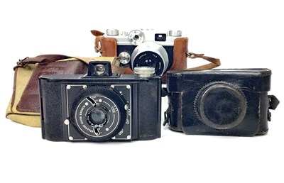 Lot 1480-AN ARGUS C - FORTY-FOUR SLR CAMERA AND OTHERS
