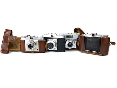 Lot 1481-AN AGFA ISOLETTE BELLOWS ACTION FOLDING CAMERA