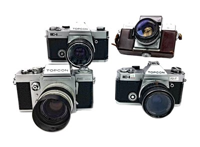 Lot 1486-A TOPCON RE SUPER SLR CAMERA AND OTHER CAMERAS