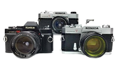 Lot 1487-A KONICA AUTOREFLEX T SLR CAMERA AND TWO OTHER CAMERAS