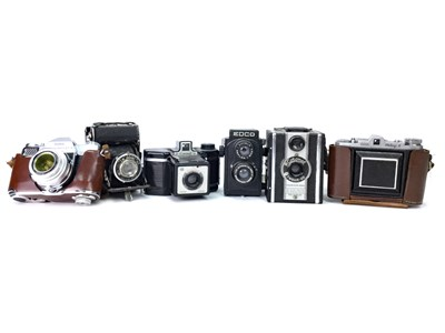 Lot 1506-A KODAK RETINA REFLEX S SLR CAMERA AND OTHER CAMERAS