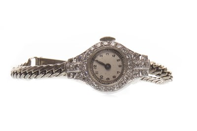 Lot 804-AN ART DECO DIAMOND COCKTAIL WATCH