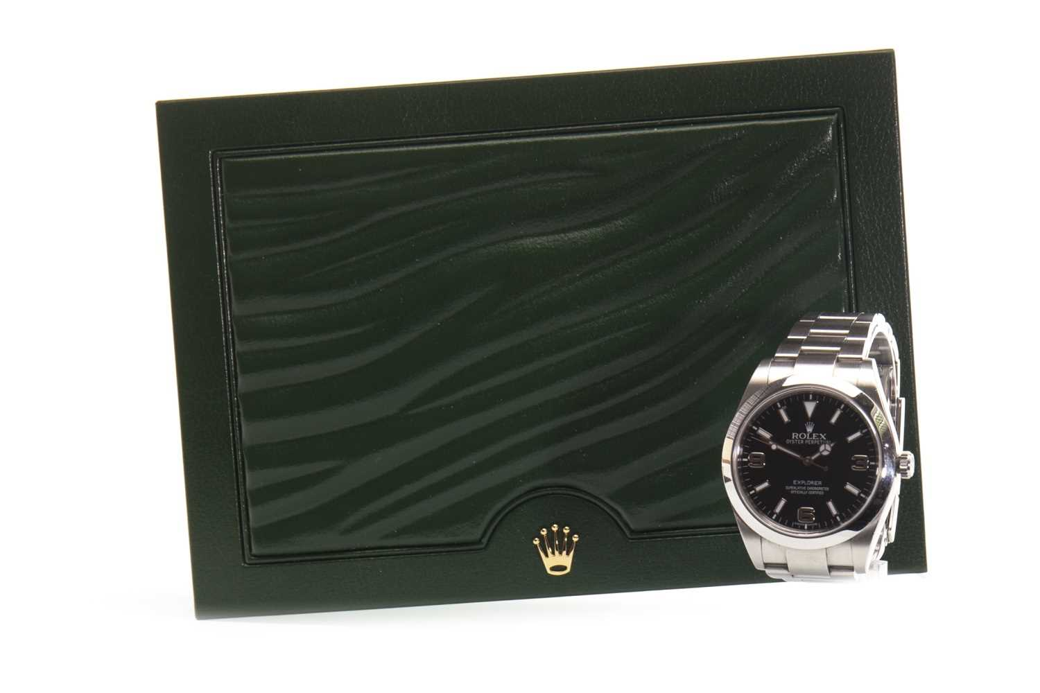 Lot 767-A GENTLEMAN'S ROLEX EXPLORER STEEL WATCH
