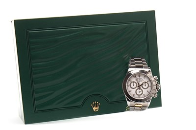 Lot 811 - A GENTLEMAN'S ROLEX DAYTONA STEEL WATCH