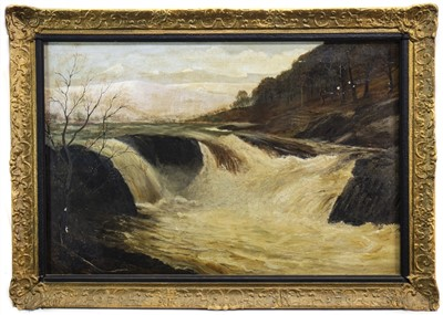Lot 420-RIVER IN SPATE, AN OIL BY A EWAN