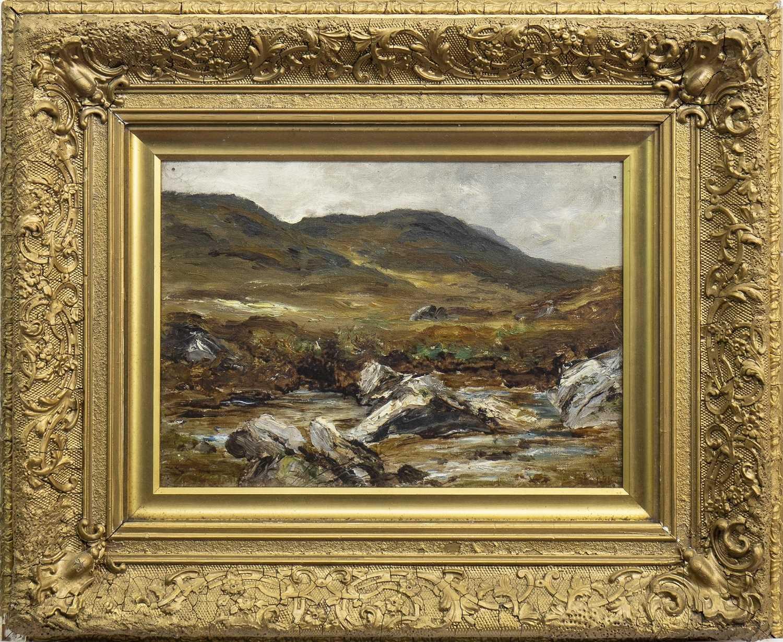 Lot 423-MOORLAND, AN OIL BY JAMES CLARK