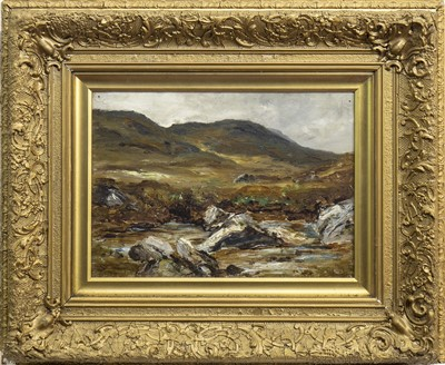 Lot 423-MOORLAND, AN OIL BY JAMES CLARK