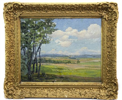 Lot 426-LANDSCAPE WITH TREES, AN OIL BY EMILE AXEL KRAUSSE
