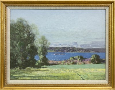 Lot 427-SCOTTISH LOCH, AN OIL BY GEORGE HOUSTON