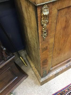 Lot 1550-A LATE 19TH CENTURY WALNUT CABINET BOOKCASE