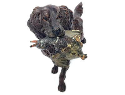 Lot 1553-A COLD PAINTED BRONZE FIGURE OF A GUN DOG