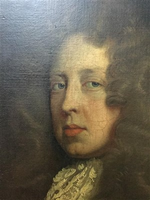 Lot 436-SIR FRANCIS RADCLYFFE, AN OIL IN THE CIRCLE OF PETER LELY