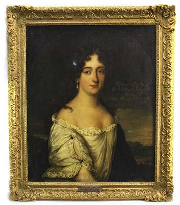 Lot 430-KATHERINE, DAUGHTER OF SIR WILLIAM FENWICK, AN OIL