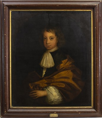 Lot 452-PORTRAIT OF A BOY, AN OIL IN THE CIRCLE OF GODFREY KNELLER
