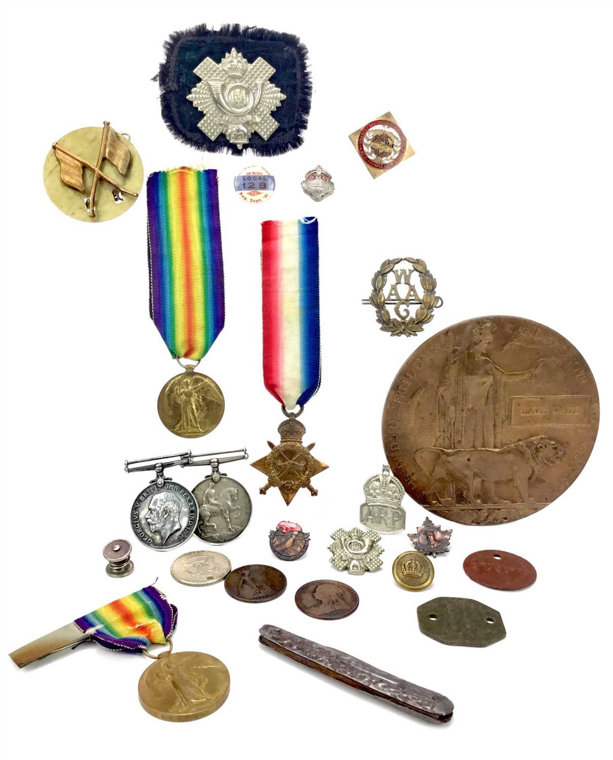 Lot 1551-A SET OF WWI CAMPAIGN MEDALS