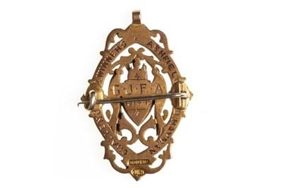 Lot 1834-A SCOTTISH CHALLENGE CUP WINNER'S GOLD MEDAL 1915