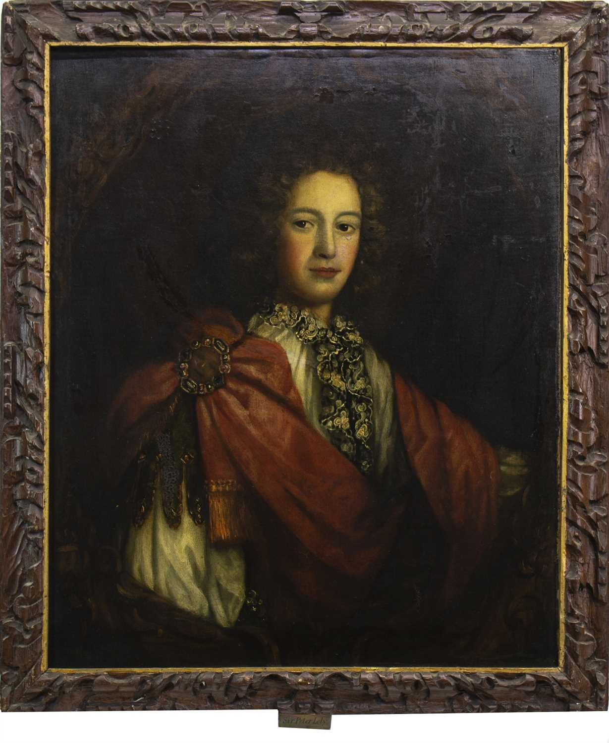 Lot 438-PORTRAIT OF A YOUNG GENTLEMAN, AN OIL, CIRCLE OF PETER LELY