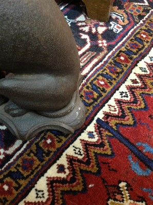 Lot 1554-A VICTORIAN CAST METAL FIGURE OF A SEATED WHIPPET