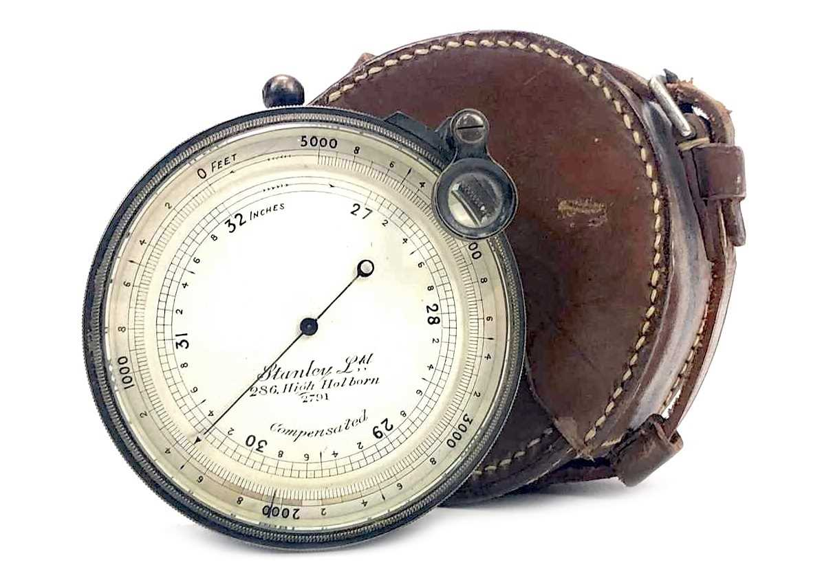 Lot 1445-A SURVEYING POCKET ANEROID BAROMETER BY STANLEY